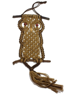 1970's Home Decor - Macrame Owl