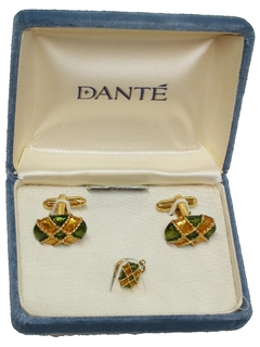 1970's Mens Accessories - Cufflinks & Tie Tac Set