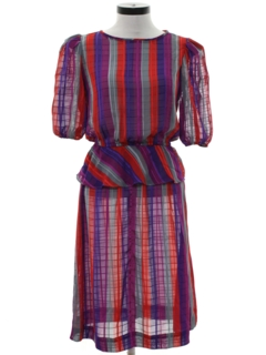 1970's Womens Disco Dress