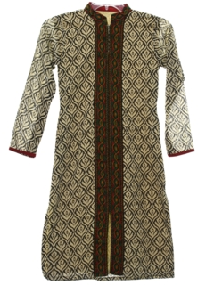 1980's Womens Ethnic Hippie Tunic Salwar Kameez Style Dress