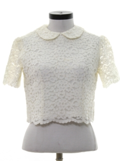 1950's Womens Lace Cocktail Shirt