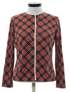 1960's Womens Mod Shirt-Jac Shirt