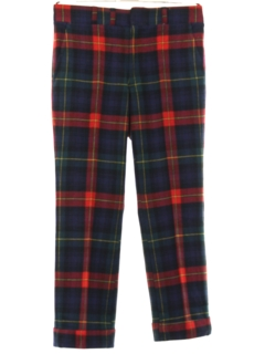 1960's Mens Mod Wool Golf Pants