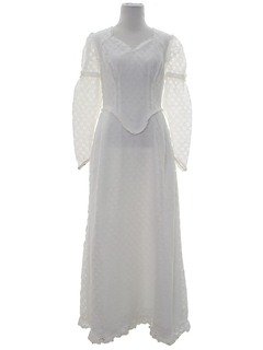 1960's Womens Hippie Wedding Dress