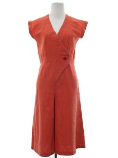 1960's Womens Mod Skort Style Dress