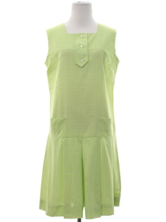 1960's Womens Mod Skort Shift Dress