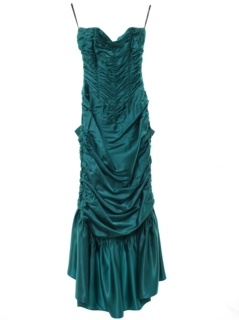 1980's Womens/Girls Totally 80s Prom Or Cocktail Maxi Dress