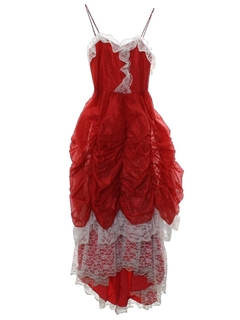 1980's Womens/Girls Totally 80s Asymmetrical Prom Or Cocktail Dress