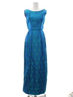 1960's Womens Mod Maxi Cocktail Dress