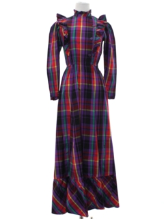 1960's Womens Maxi Prairie Dress
