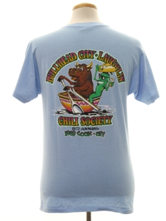 1980's Mens Cheesy Travel T-shirt