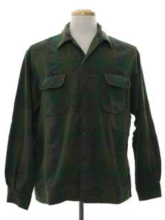 1950's Mens Wool Board Style Sport Shirt