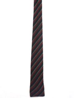 1950's Mens Mod Flat Bottom Skinny Necktie