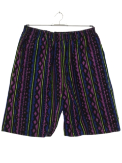 1980's Mens Totally 80s Baggie Print Shorts