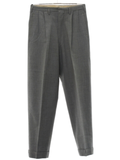 1940's Mens Sharkskin Pleated Swing Pants