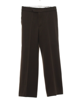 1970's Mens Gabardine Wide Leg Flared Disco Pants