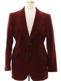 1970's Mens Mod Corduroy Blazer Sportcoat Jacket