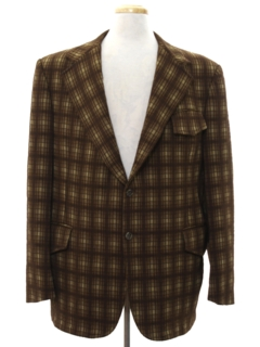 1970's Mens Western Style Disco Blazer Sport Coat Jacket