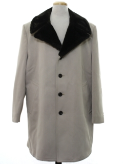1970's Mens Mod Car Coat Overcoat Jacket
