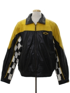 1990's Mens Leather Racing Style Jacket