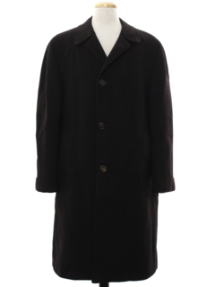 1960's Mens Wool Car Coat Style Overcoat Jacket