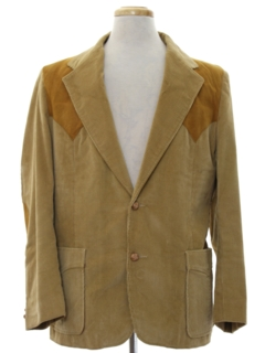 1980's Mens Western Corduroy Blazer Sport Coat Jacket