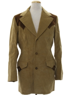 1970's Mens Western Corduroy Blazer Sport Coat Jacket