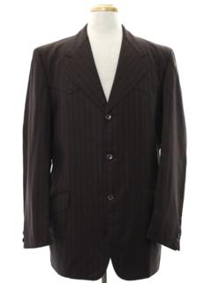 1970's Mens Mod Western Sport Coat Blazer Jacket