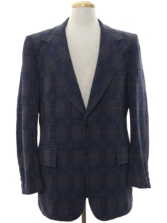 1970's Mens Disco Style Wool Blend Blazer Sport Coat Jacket