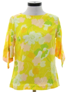 1960's Womens Mod Pow-Flower Hippie Shirt