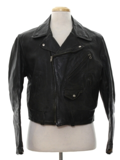 1950's Mens Leather Motorcycle Jacket