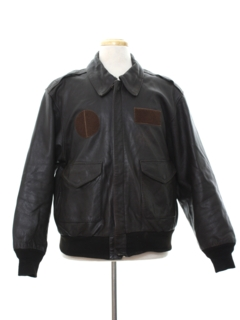 1980's Mens Bomber Leather Flight Jacket