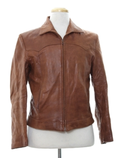 1980's Mens Western Style Leather Jacket