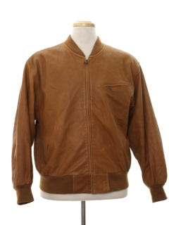 1980's Mens Totally 80s Cafe Racer Style Leather Jacket