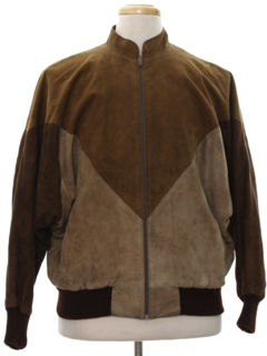 1980's Mens Totally 80s Suede Leather Jacket