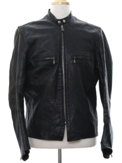1960's Mens Motorcycle Leather Jacket