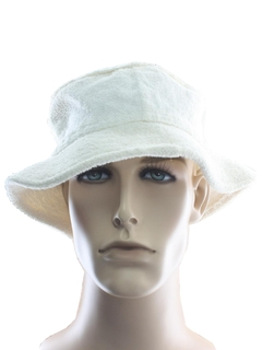 1980's Unisex Accessories - Terry Cloth Bucket Hat