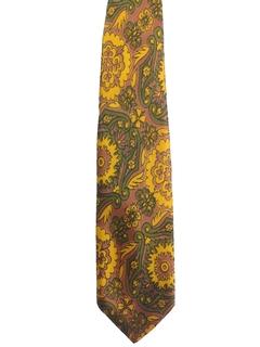 1960's Mens Mod Wide Necktie