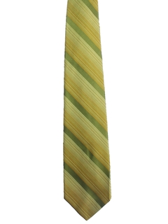 1960's Mens Diagonal Striped Mod Necktie