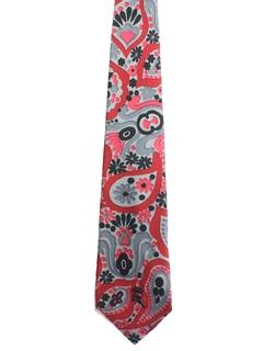 1960's Mens Mod Silk Necktie