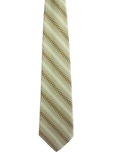 1960's Mens Wide Diagonal Striped Necktie