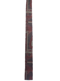 1960's Mens Mod Skinny Flat Bottom Mod Necktie