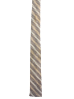 1960's Mens Flat Bottom Skinny Diagonal Necktie