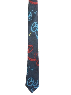 1980's Mens Hippie Peace Necktie