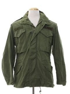 1970's Mens Grunge Army Military Jacket