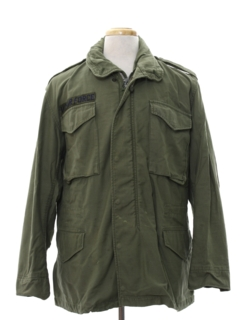 1970's Mens Grunge Air Force Military Jacket