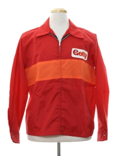 1970's Mens Mod Racing Style Wind Breaker Zip Jacket