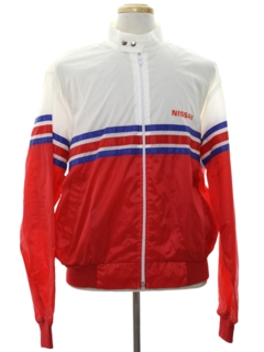 1980's Mens Totally 80s Nissan Racing Jacket