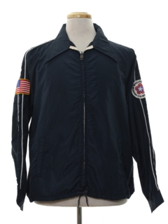 1970's Mens Wind Breaker Zip Jacket