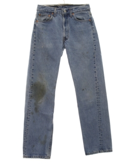 1980's Mens Grunge Levis 501 Denim Jeans Pants